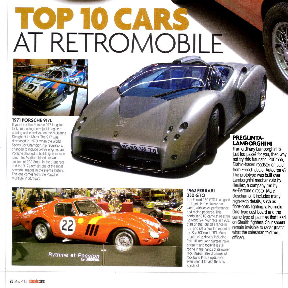 The Mythical PAGANI ZONDA : Press Comments